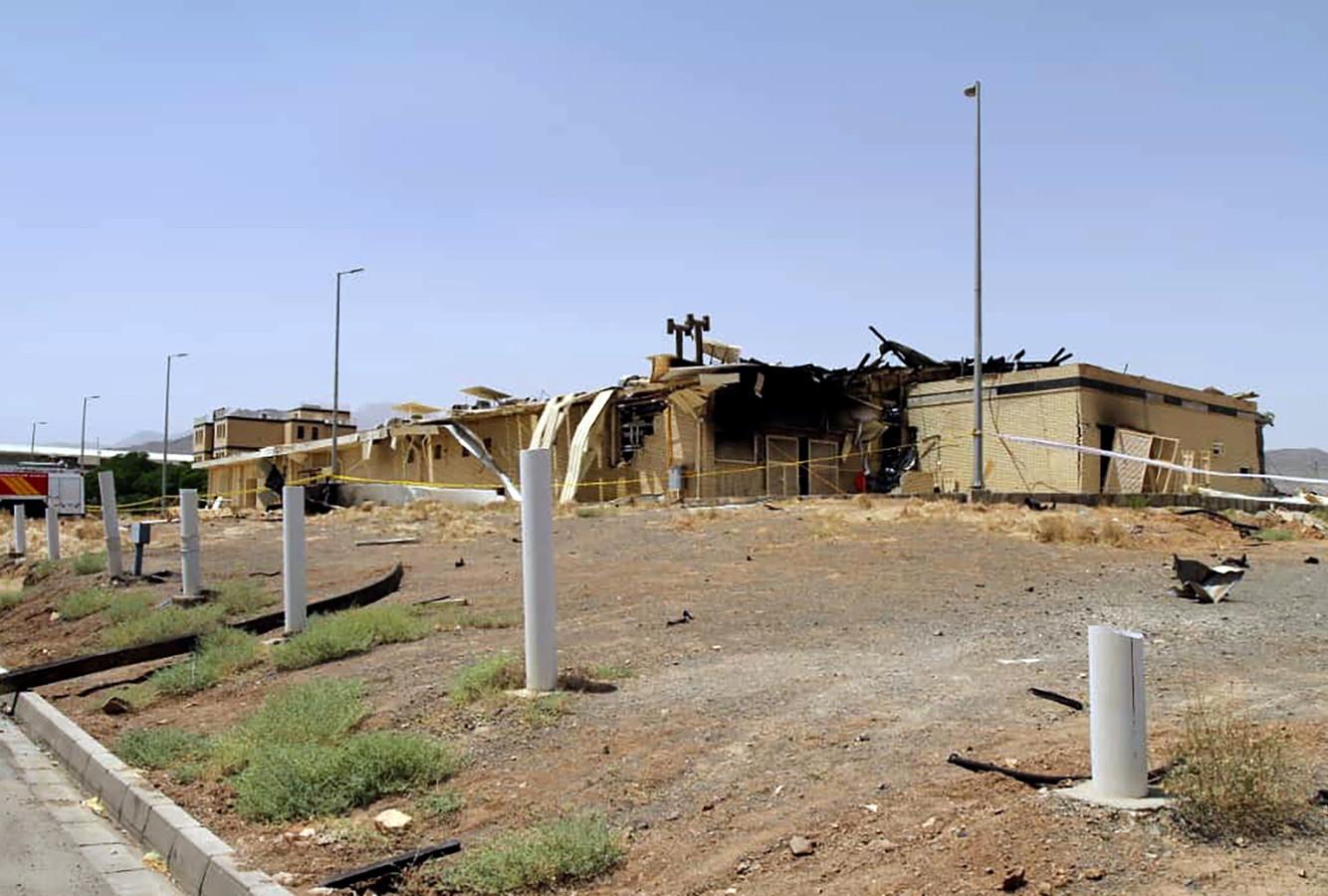 Beelden van de schade in Natanz zijn vrijgegeven door de Iraanse autoriteiten.