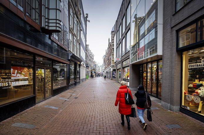 Rustig in het centrum van Amsterdam.
