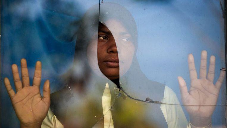 Een Rohingya-vrouw in een asielzoekerscentrum in Indonesië, afgelopen maart. Beeld afp