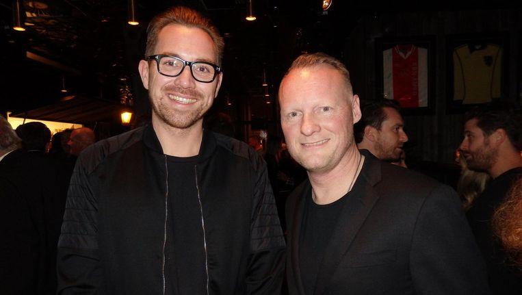 Mede-eigenaren Boyd Baptist (l) en Eric Keijer van Martin's Sporting Club. 'Er was geen goede sportbar in Amsterdam' Beeld Schuim