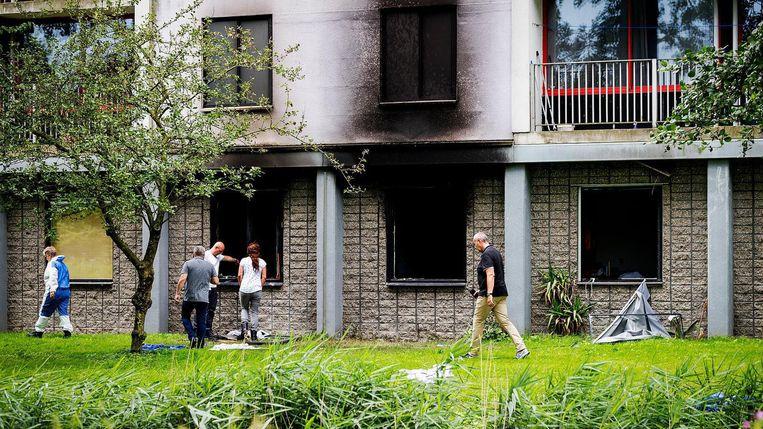 Bij de flatbrandbrand in Diemen in 2017 kwam de 27-jarige David Swart om het leven en liepen twee vrouwen ernstig en blijvend letsel op. Beeld Robin van Lonkhuijsen/ANP