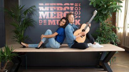 """Nora Gharib en Bart Peeters, het frisse presentatieduo van 'Merci Voor De Muziek': """"Bart is mijn showbizzpapa"""""""
