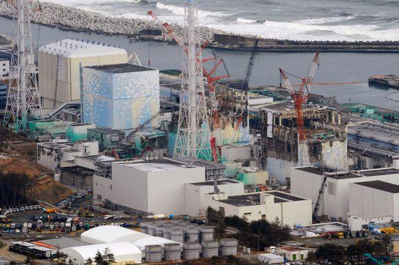 Archiefbeeld. De drie gesmolten kernreactoren van de Fukushima Daiichi-kerncentrale.