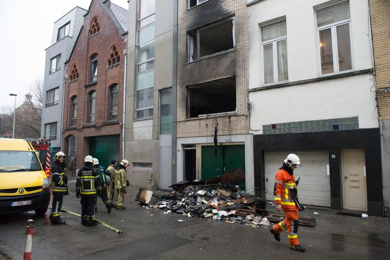 The day after: het hele appartement is uitgebrand.