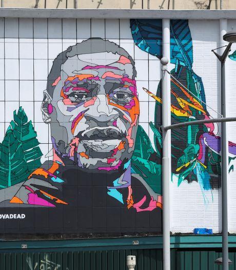 """Une fresque en hommage à George Floyd à Bruxelles: """"Envoyer un message de paix"""""""