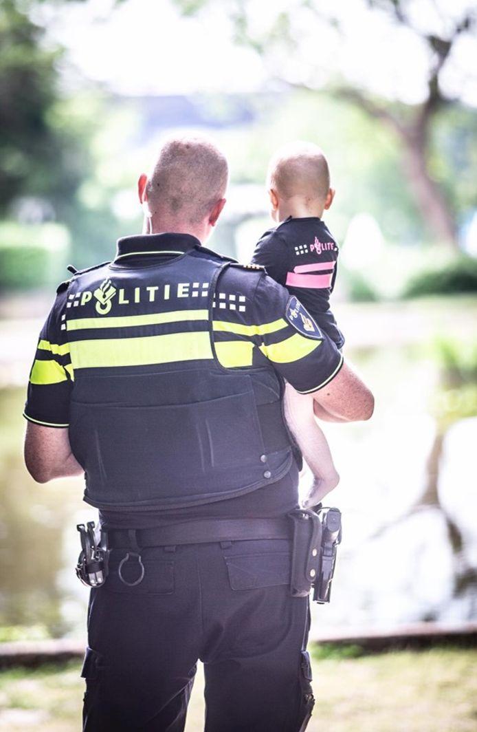 Sander met zijn dochtertje