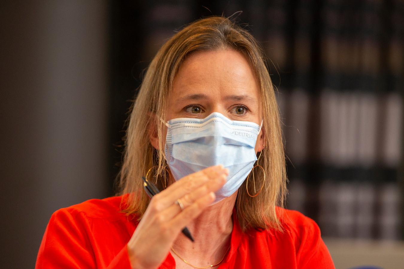 Caroline Désir, ministre de l'Éducation de la Fédération Wallonie-Bruxelles.