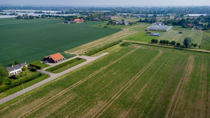 Park Lingezegen vanuit de lucht aan de zuid-westkant van Huissen. Voor Lingewaard en Overbetuwe is woningbouw in het landschapspark geen optie.