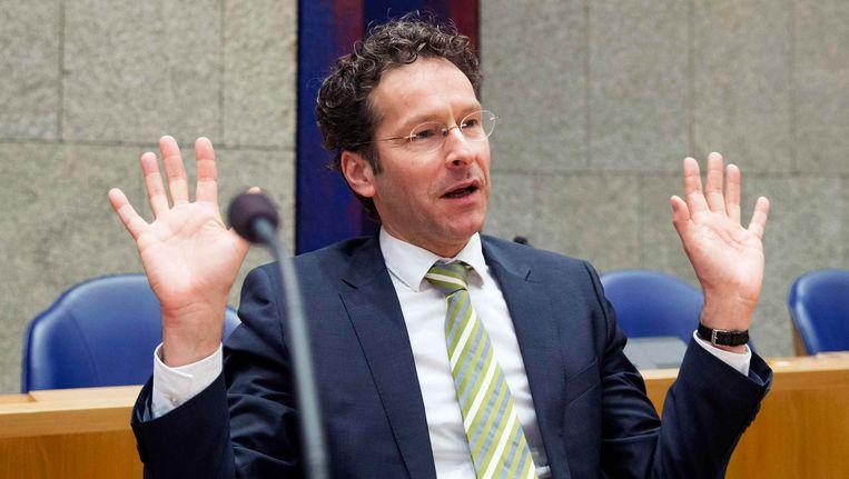 De uitspraken van Dijsselbloem over de redding van de euro vielen niet in goede aarde bij het IMF en verschillende eurolanden. Beeld REUTERS