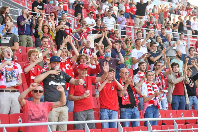 Illustration shows fans and supporters of Antwerp pictured during a friendly soccer game between Belgian Royal Antwerp FC and French AS Monaco, Saturday 17 July 2021 in Antwerp. BELGA PHOTO DAVID CATRY
