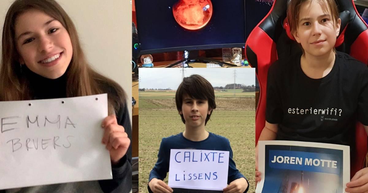"""Deze Boutersemse leerlingen landen vanavond samen met de Perseverance op Mars: """"Wie weet krijgen we binnenkort wel een brief van een alien"""" - Het Laatste Nieuws"""