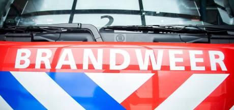 Brand in hooibalen aan Korte Koedoodsedijk in Barendrecht