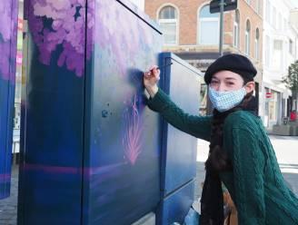 """Kunstenaars steken elektriciteitskasten in nieuw kleedje: """"Brengen kleur in grijze straat"""""""