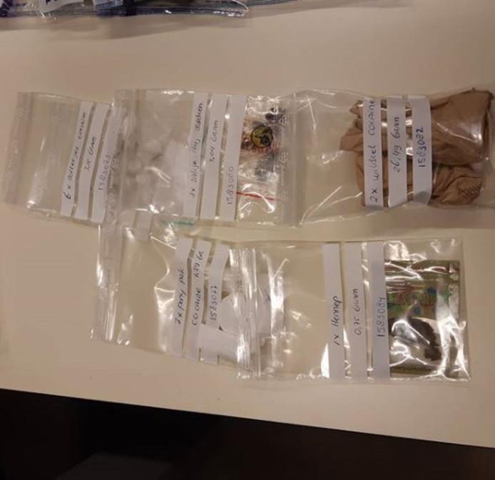 De gevonden drugs