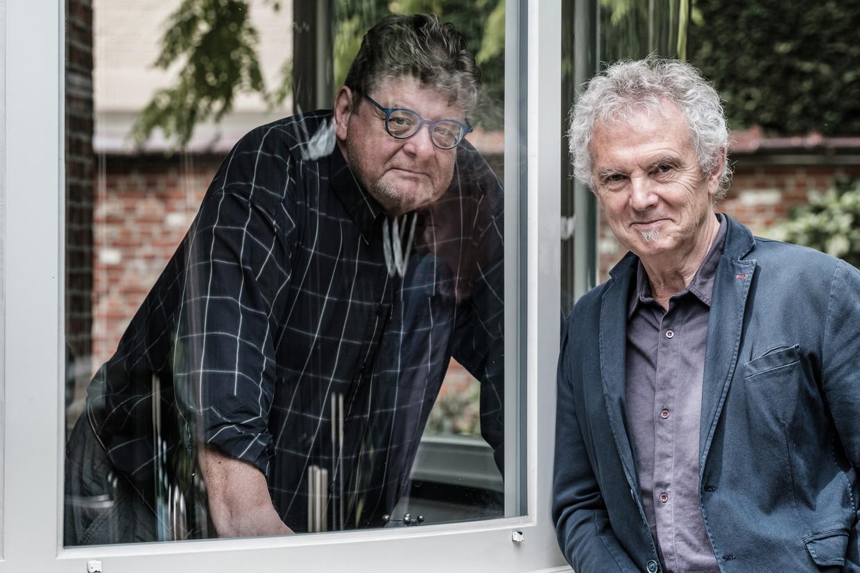 Jan Van Duppen (l.) en Louis van Dievel. Beeld Bob Van Mol