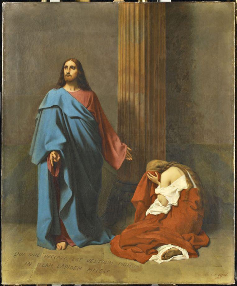'La femme adultère' (1840) Beeld Émile Signol