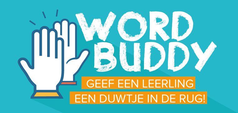 Het campagnebeeld van de stad Mechelen voor 'Word buddy'.