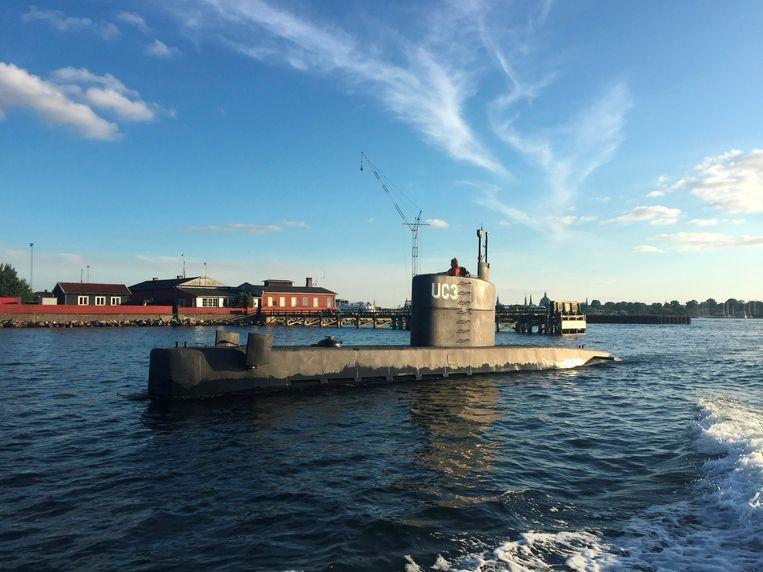 De zelfgebouwde onderzeeboot UC3 Nautilus.  Beeld REUTERS