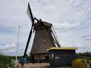 De wiek van de Goudriaanse molen knakte bij een zachte wind.