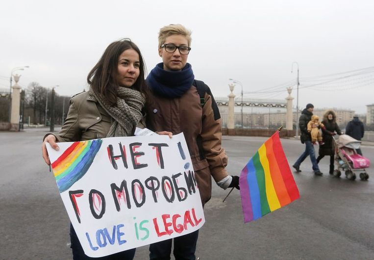 Twee vrouwen, vandaag in Moskou Beeld reuters