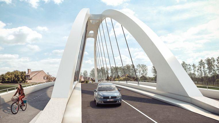 Op dit moment worden onder ruime belangstelling de plannen voor de nieuwe Leiebrug tussen Ooigem en Desselgem voorgesteld.