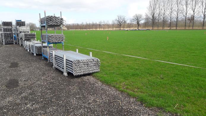 De opbouw van Paaspop 2019 is begonnen in het buitengebied van Schijndel.