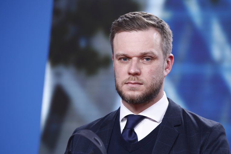 Gabrielius Landsbergis, minister van buitenlandse zaken van Litouwen. Beeld Hollandse Hoogte / Imago Stock & People GmbH