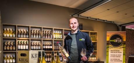 Lars uit De Lutte wil vanuit zijn garage het plezier aan een goede en eerlijke wijn doorgeven
