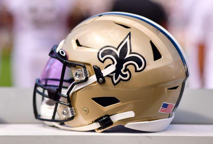 Een helm van New Orleans Saints.