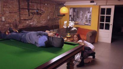 Natalia oefent spectaculaire trickshot op eigen partner in 'BEAT VTM'