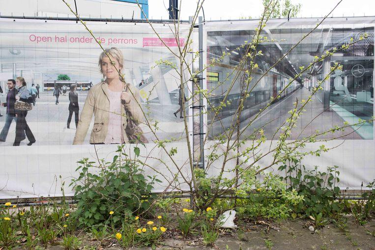 De werken aan het Gentse Sint-Pietersstation.  Beeld Bas Bogaerts