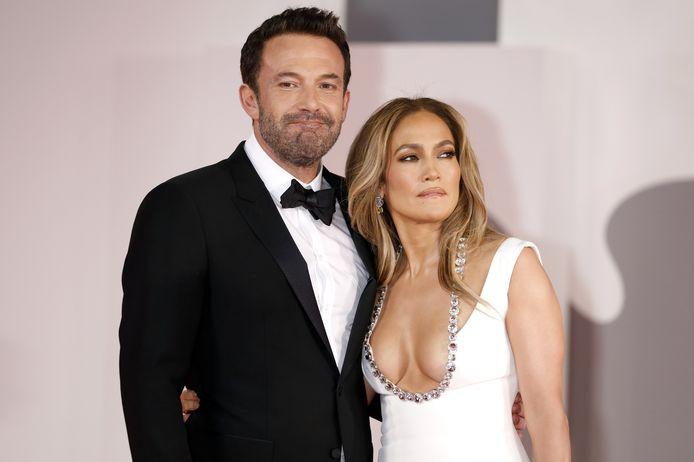 Ben Affleck en Jennifer Lopez bij een première in Venetië onlangs.