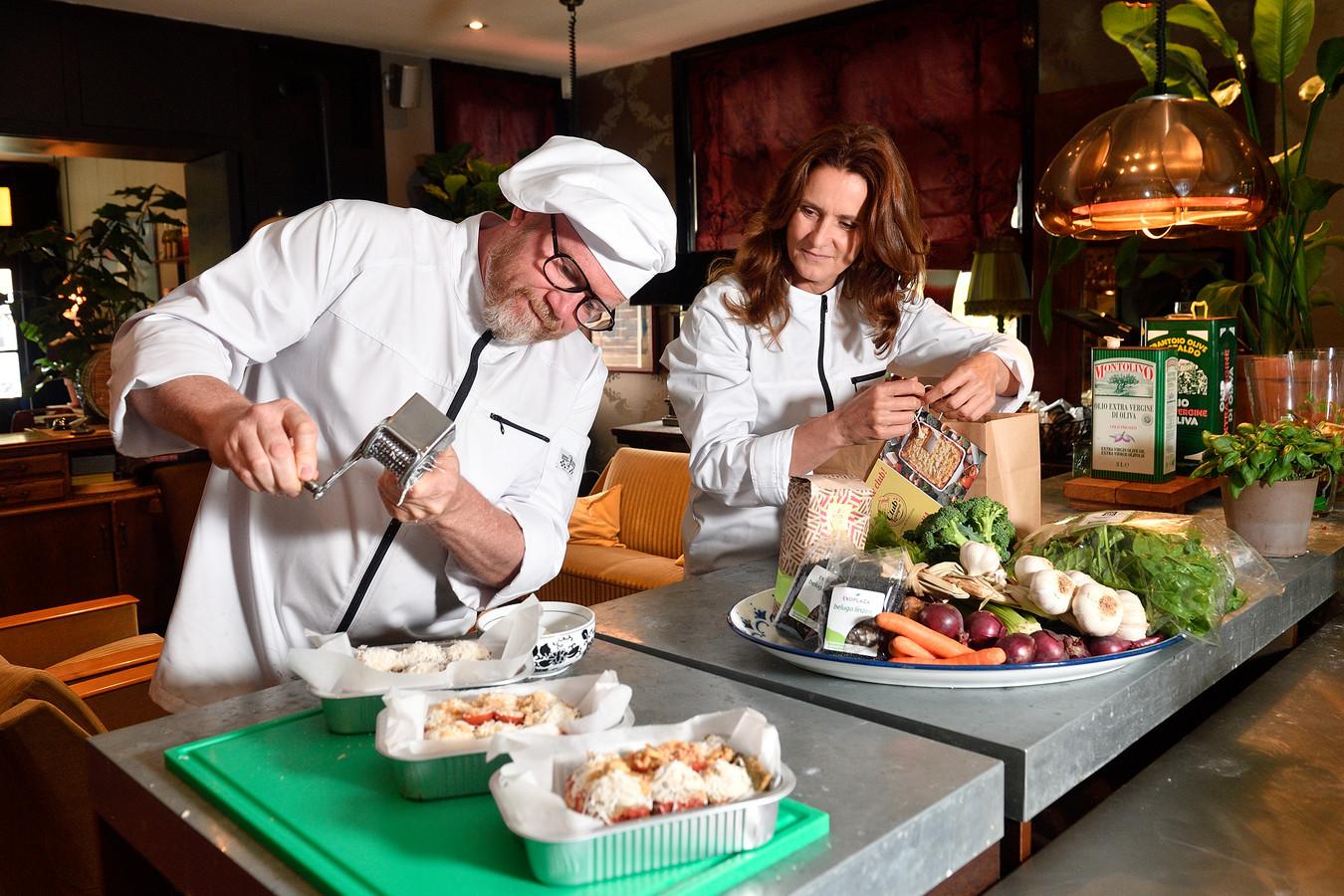 Pim Haaksman en Antoinette Dorrestein zijn samen op lasagne-missie in Club Lasagna in Soest.