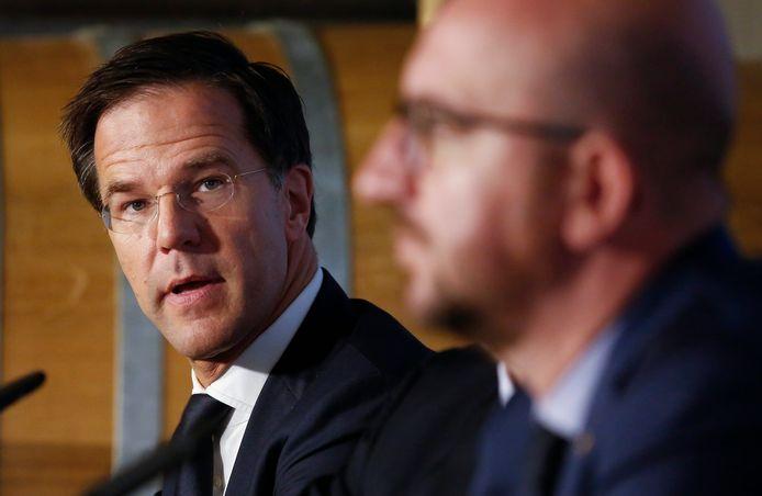 Premier Mark Rutte en zijn Belgische collega Charles Michel.