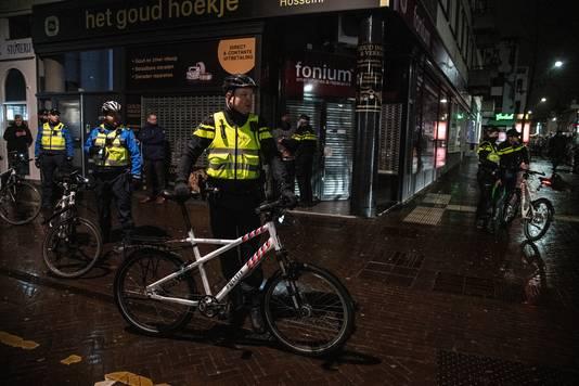 Veel politie gisteravond in de binnenstad.