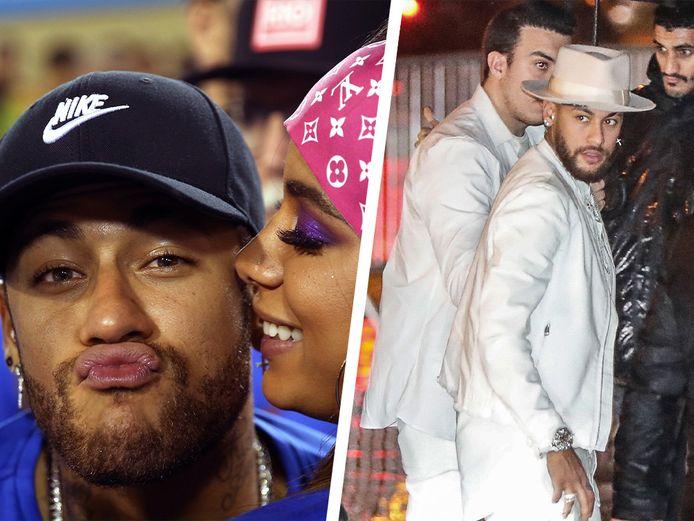 Neymar op het carnaval in Rio en op een van zijn feestjes.