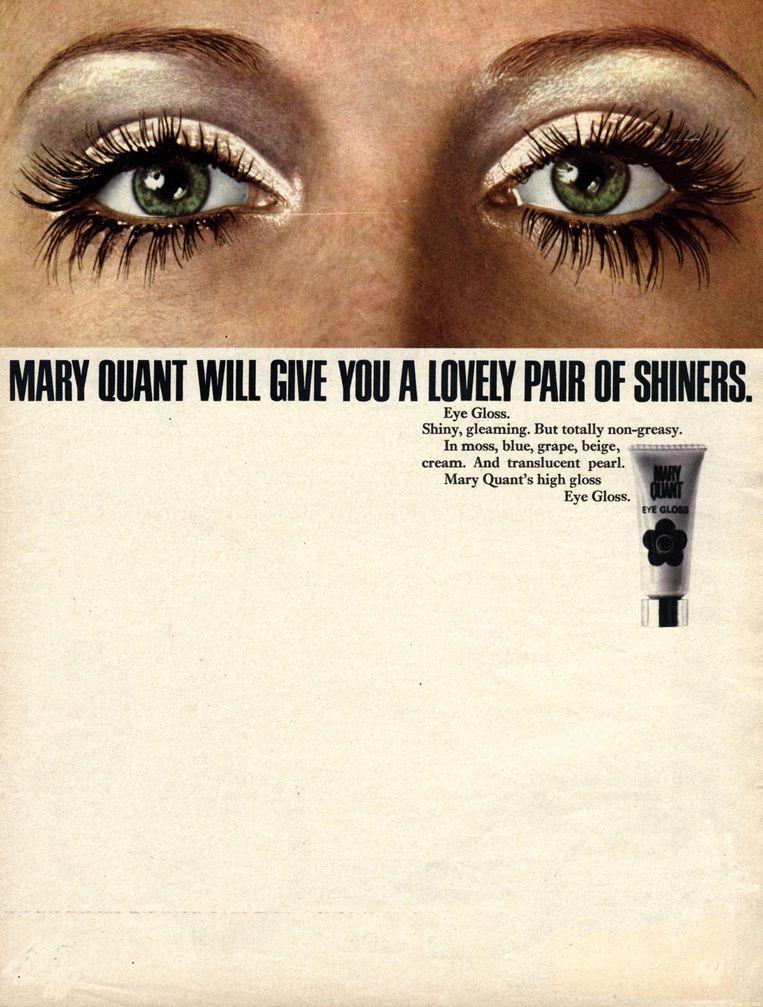 Advertentie voor oogschaduw van Mary Quant. Beeld Alamy Stock Photo
