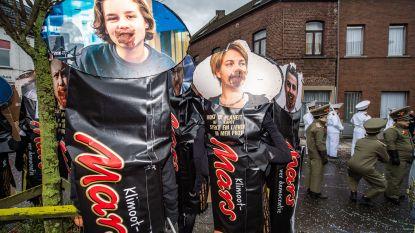 VIDEO. Schauvliege, Anuna De Wever, Dries Van Langenhove: niemand ontsnapt op carnaval in Aalst