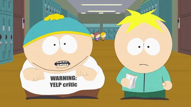 Cartman als tirannieke 'Yelper' in South Park. Dat iedereen vindt dat zijn stem moet worden gehoord, heeft ons aller stem in feite zinloos gemaakt. Beeld rv