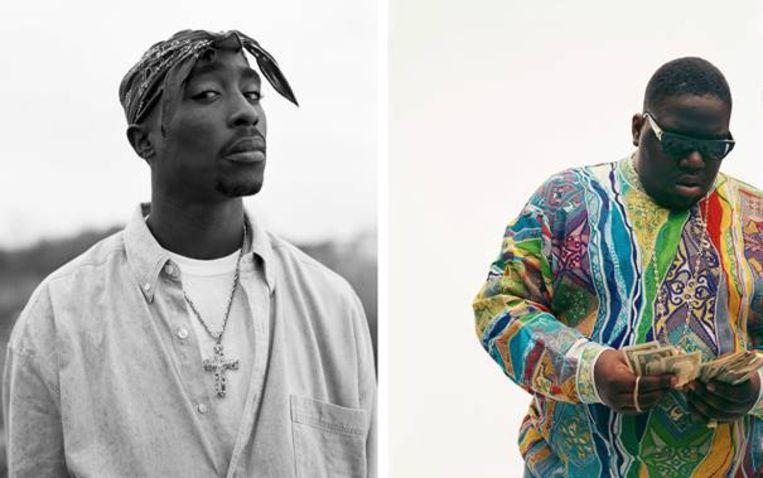 Tupac Shakur (1993) en Christopher Wallace (Biggie, 1996) gefotografeerd door Dana Lixenberg. Beeld Dana Lixenberg/ GRIMM Amsterdam