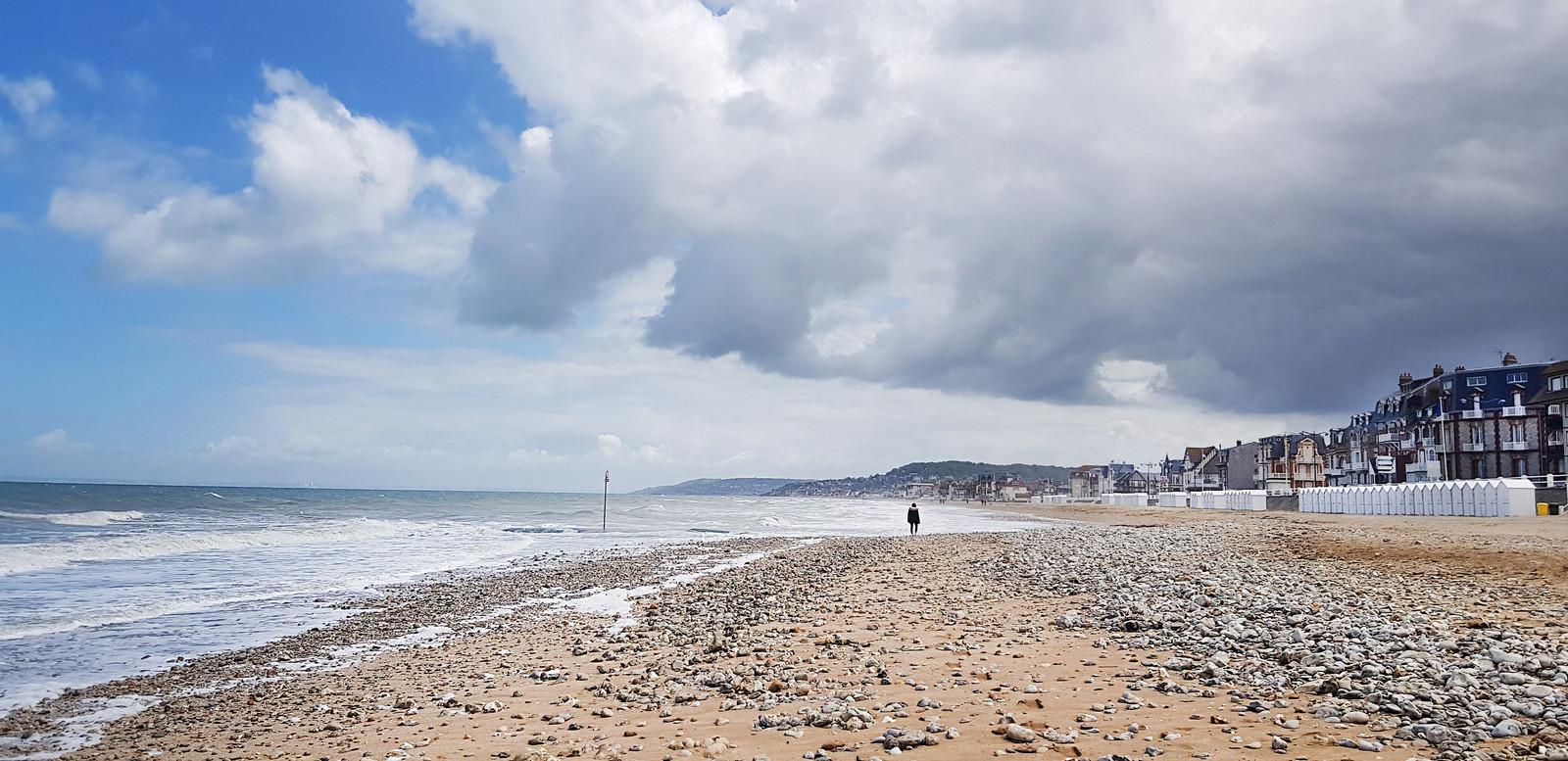 Het strand van Villers-sur-Mer.
