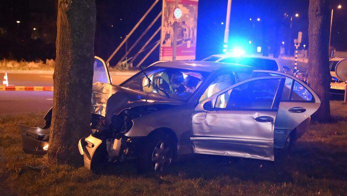 De auto na de fatale klap.