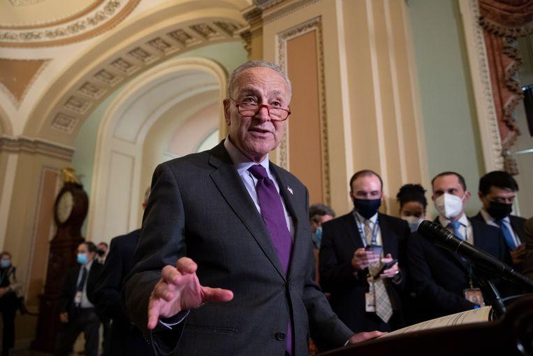 De Democratische Senaatsleider Chuck Schumer Beeld EPA
