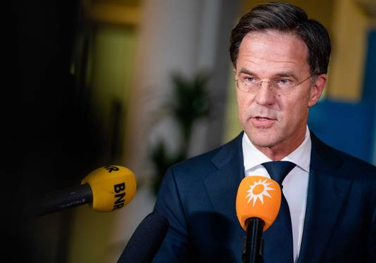 Demissionair premier Mark Rutte.