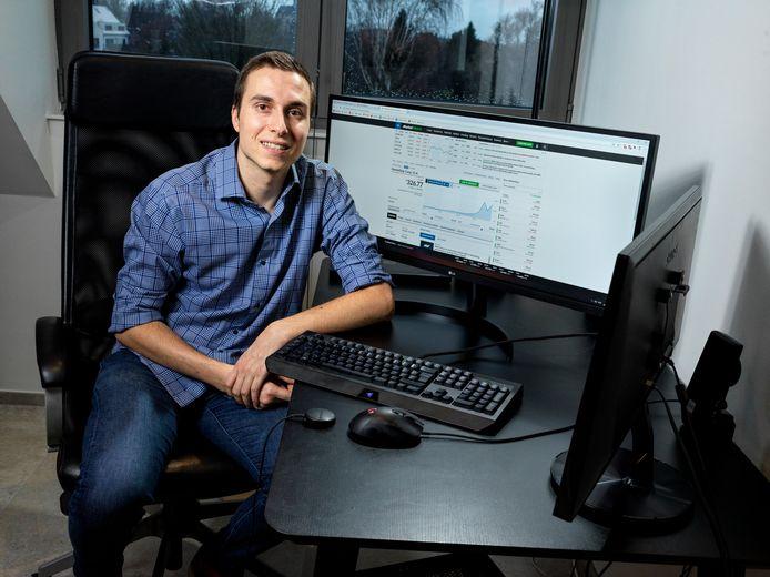 Vincent Mathys boekte 2.500 euro winst nadat hij aandelen van GameStop had gekocht.
