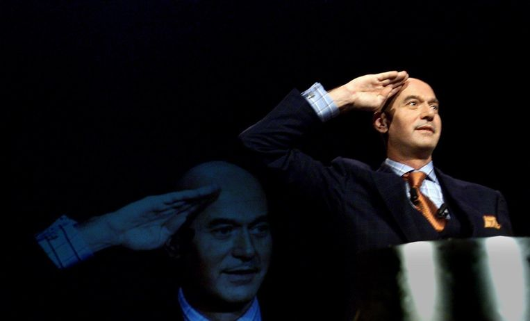 De Nederlandse politicus Pim Fortuyn was de eerste openlijk homofiele politicus die succes oogstte met een islamkritisch discours.  Beeld Robin Utrecht / EPA / Image Globe