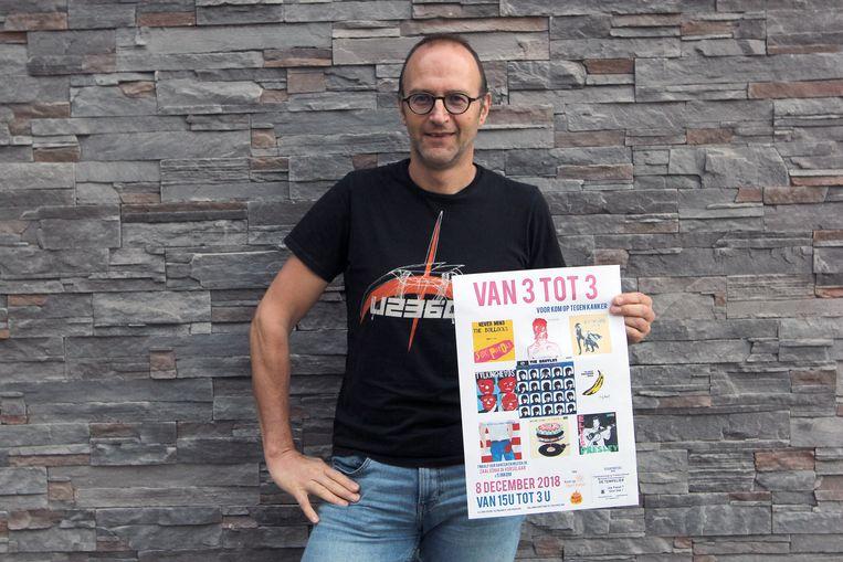 Dirk Vissers verloor twee jaar geleden zijn vrouw aan kanker. Nu organiseert hij 'Van 3 tot 3', een klein festival waarvan de opbrengst integraal naar Kom op tegen Kanker gaat.