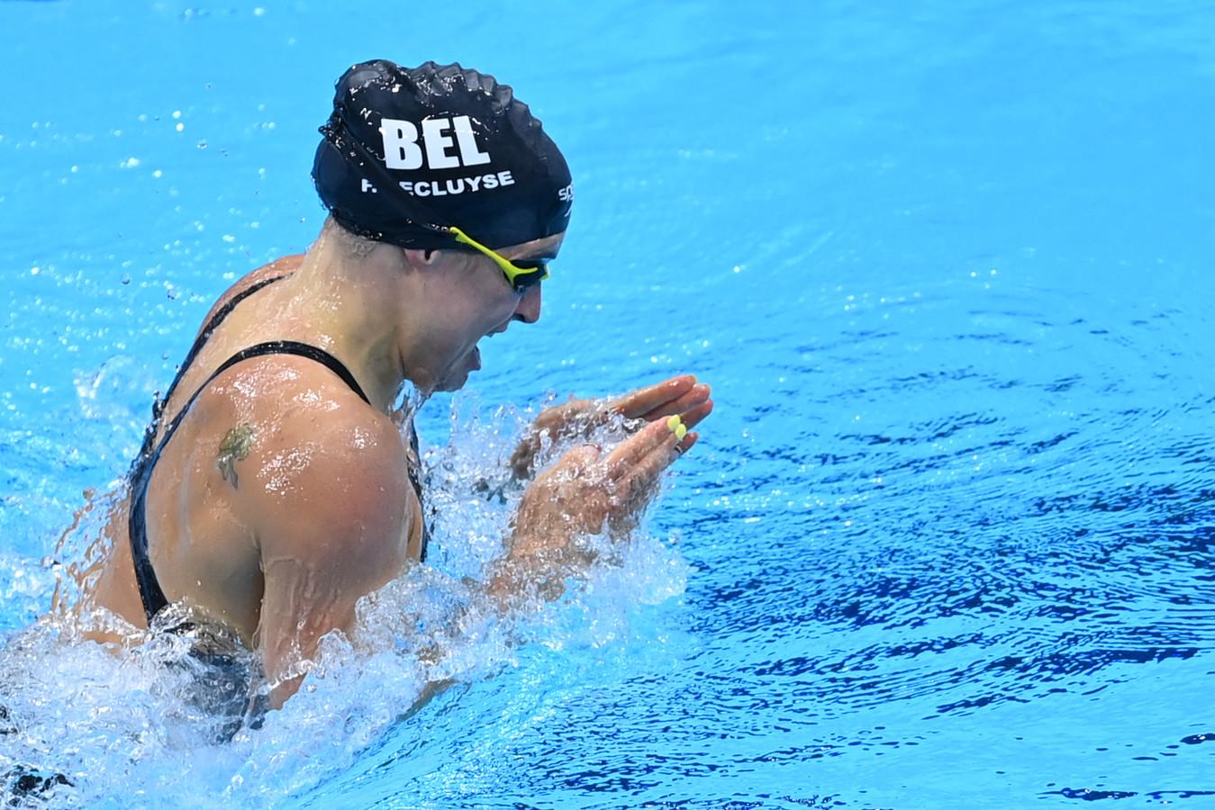 Avec le huitième temps des demi-finales, Fanny Lecluyse se hisse en finale du 200 mètres brasse.
