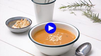 Stevig soepje voor bourgondische keukenklunzen (én vegans) met zoete aardappel