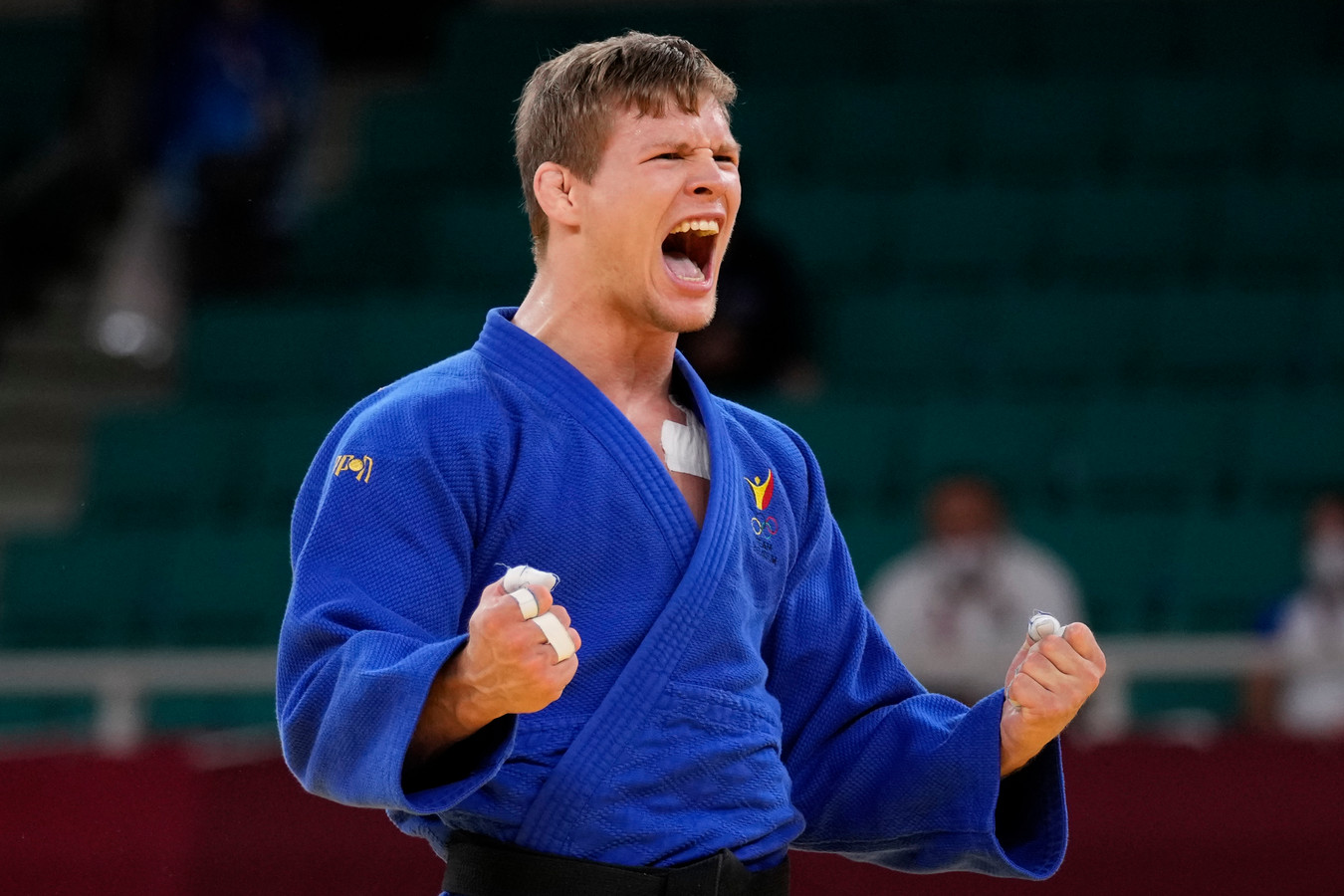 Matthias Casse na zijn zege om de bronzen medaille.